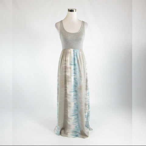 Heather gray ombre ENTRO stretch sleeveless maxi dress S