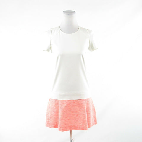 Coral orange ivory space dyed COMPTOIR DES COTONNIERS tunic dress IT34 0