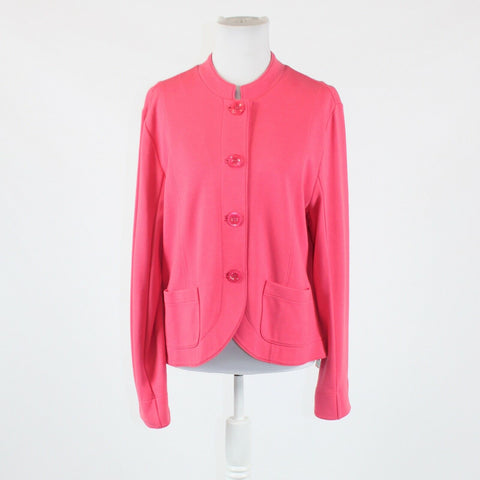 Pink stretch COLDWATER CREEK long sleeve button front jacket L