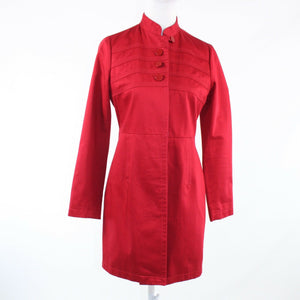Red 100% cotton BANANA REPUBLIC long sleeve coat S
