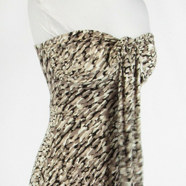 Taupe white camouflage cotton blend ANN TAYLOR sun dress XS-Newish