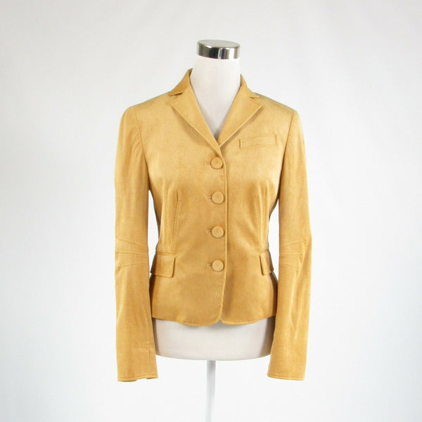 Mustard yellow corduroy CARLISLE long sleeve blazer jacket 4