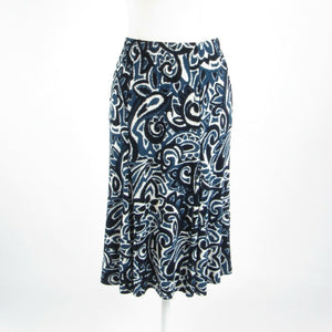 Blue paisley COLDWATER CREEK stretch A-line skirt PS-Newish