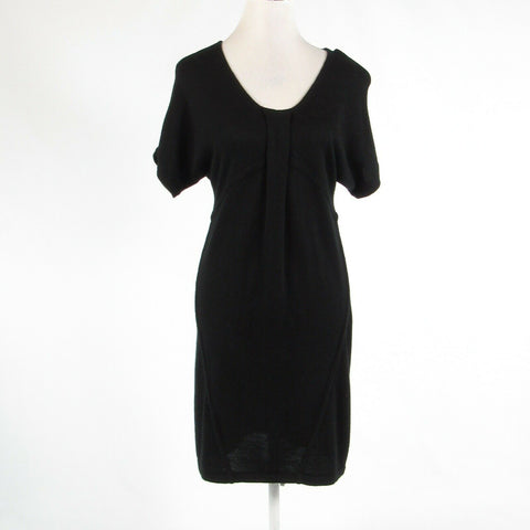Black ANN TAYLOR LOFT stretch short batwing sleeve sweater dress S-Newish