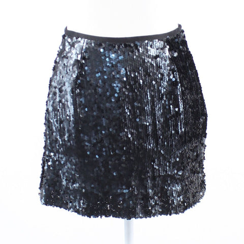 Black sequin DONCASTER mini skirt 2