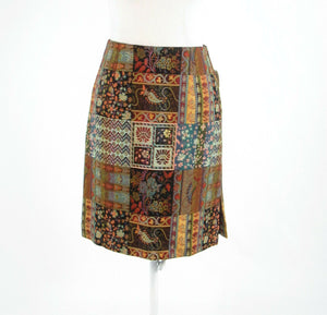 Multicolor brown paisley HAROLD'S pencil skirt 4 NWT $110.00