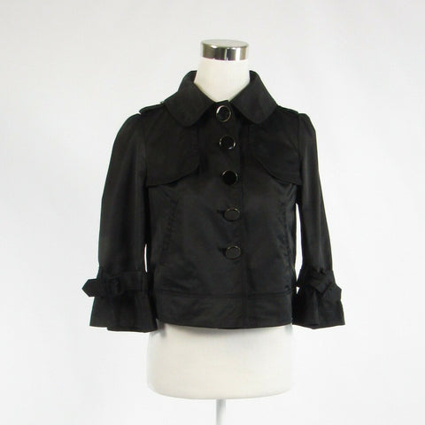 Black cotton blend GUESS JEANS 3/4 sleeve blazer jacket S-Newish
