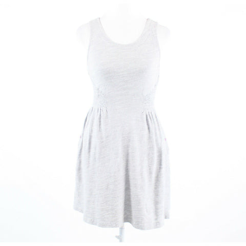 Heather gray stretch 100% cotton LILKA sleeveless A-line dress XS