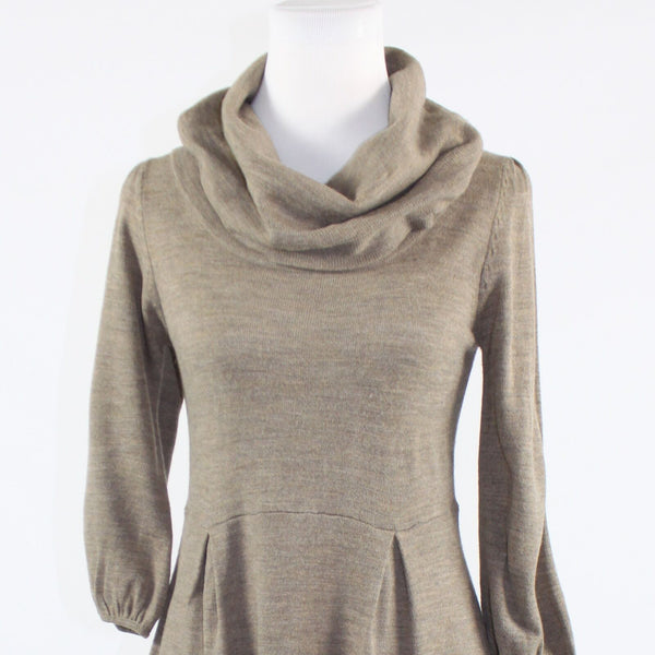 Taupe stretch AGB DRESS 3/4 sleeve sweater dress S-Newish