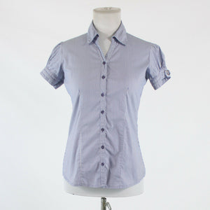 Blue and white striped cotton blend AUSTIN REED short sleeve button down shirt S