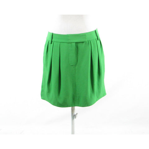 Green DIANE VON FURSTENBERG pleated mini skirt 6