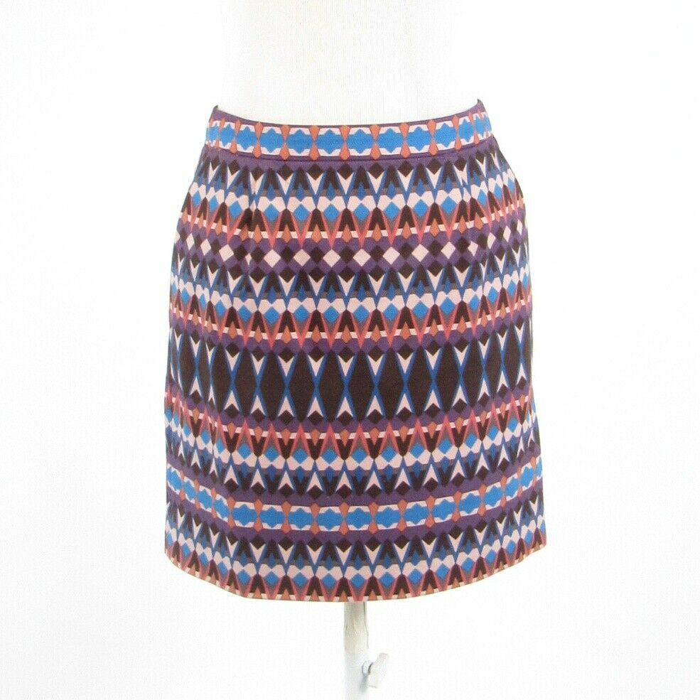 Mauve purple geometric cotton blend J. CREW mini skirt 0-Newish
