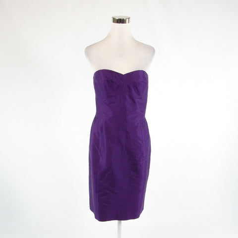 Purple 100% silk LAUREN RALPH LAUREN sleeveless empire waist dress 10