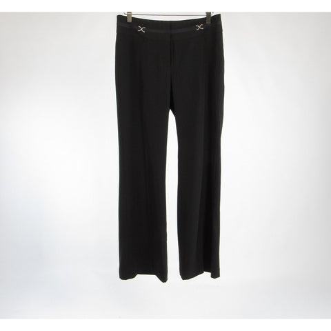 Black WHITE HOUSE BLACK MARKET stretch bootcut dress pants 6