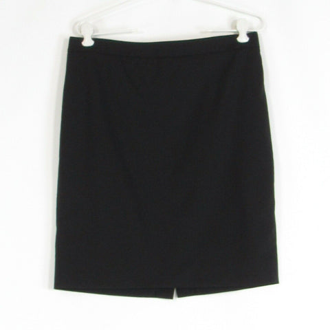 Black wool blend J. CREW bi stretch pencil skirt 10P