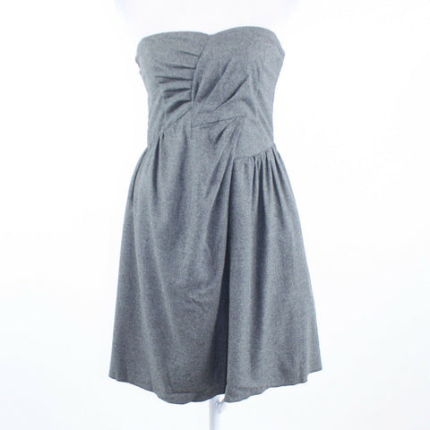 Heather gray SEE BY CHLOE strapless A-line dress 2 38-Newish
