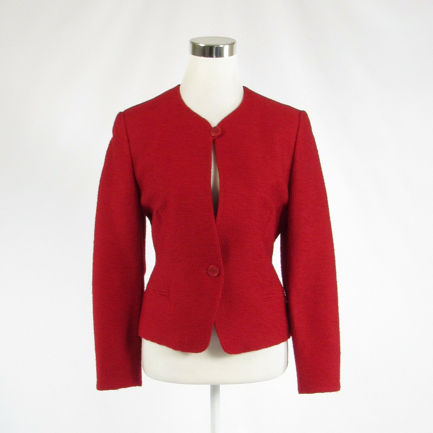 Red tweed CERRUTI 1881 long sleeve jacket 6 40-Newish