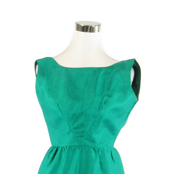 Teal green sleeveless vintage wiggle dress XS-Newish