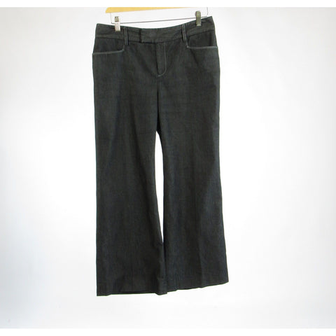 Gray 100% cotton RAFAELLA Petite wide leg jeans 10