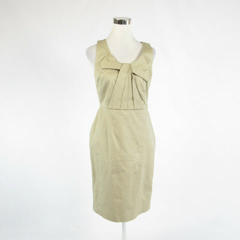 Beige 100% cotton BODEN sleeveless sheath dress 6-Newish