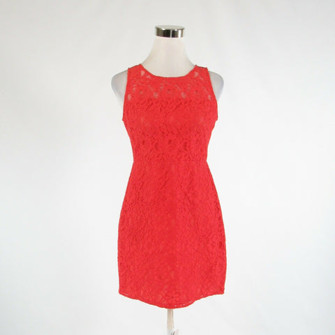 Orange floral print lace J. CREW sleeveless sheath dress 4P