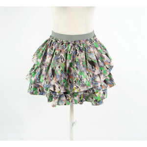 White purple abstract SUNO tiered mini skirt M-Newish