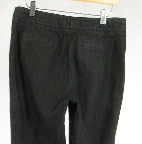 Rinsed indigo cotton blend J. JILL bootcut jeans 8