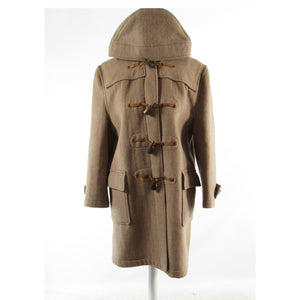 Cool brown 100% wool GLOVERALL 3/4 sleeve duffle coat M