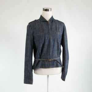Dark blue ivory denim ARMANI EXCHANGE long sleeve jean jacket L