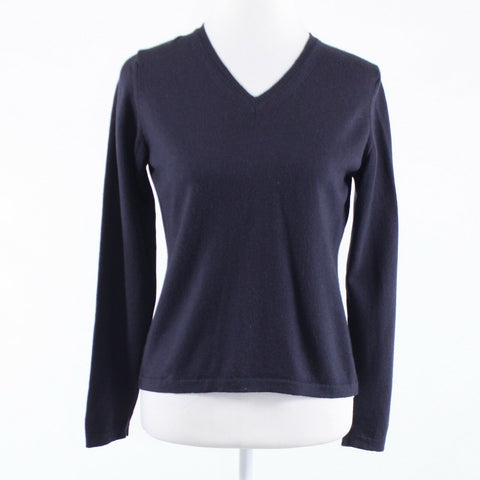 Charcoal gray ANNALAURA long sleeve V-neck sweater M-Newish
