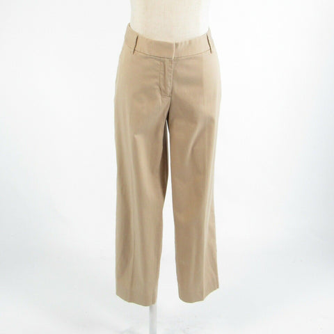Beige cotton blend J. CREW City Fit stretch relaxed fit cropped capri pants 10