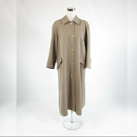 Taupe twill BURBERRYS Prorsum Collection long sleeve peacoat 2P XLP