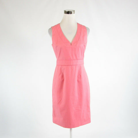 Pink cotton blend J. CREW stretch sleeveless sheath dress 4