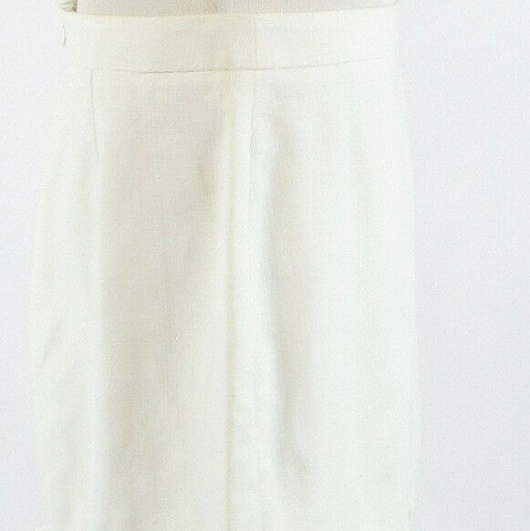 White 100% cotton J. CREW A-line skirt 12-Newish
