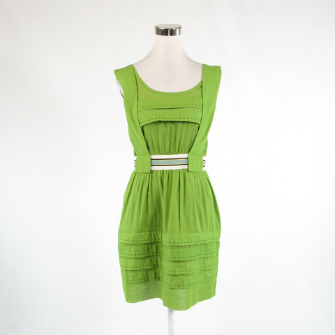 Green ivory 100% cotton PHILOSOPHY DI ALBERTA FERRETTI sleeveless sun dress 6