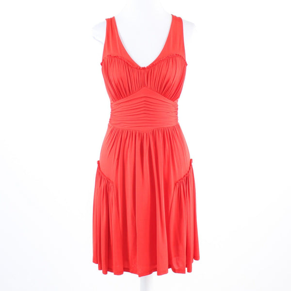 Red stretch ANDREW MARC sleeveless A-line dress 2