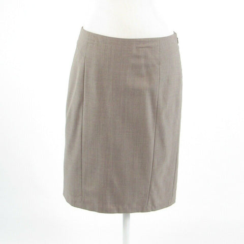Taupe wool blend REBECCA TAYLOR pencil skirt 6