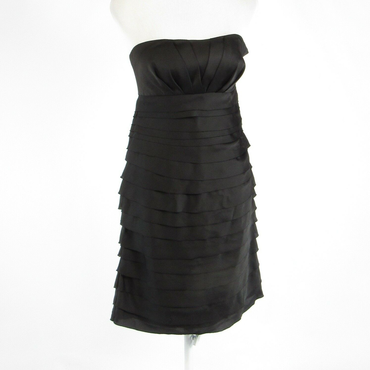 Black MAX AND CLEO sleeveless tiered dress 2 NWT $168-Newish