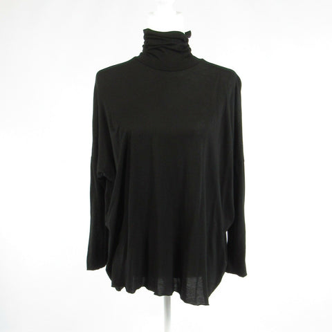 Black cotton ADRIANO GOLDSCHMIED stretch 1/2 sleeve blouse S