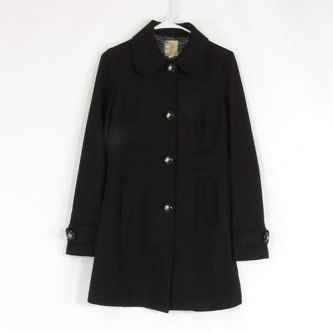 Black wool blend ANTHROPOLOGIE TULLE peacoat S