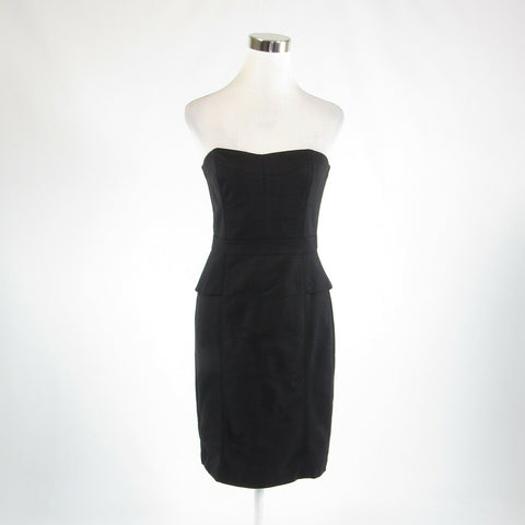 Black WHITE HOUSE BLACK MARKET stretch sleeveless sheath dress 4
