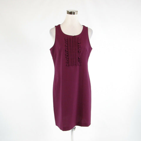 Eggplant purple BANANA REPUBLIC stretch sleeveless sheath dress 8