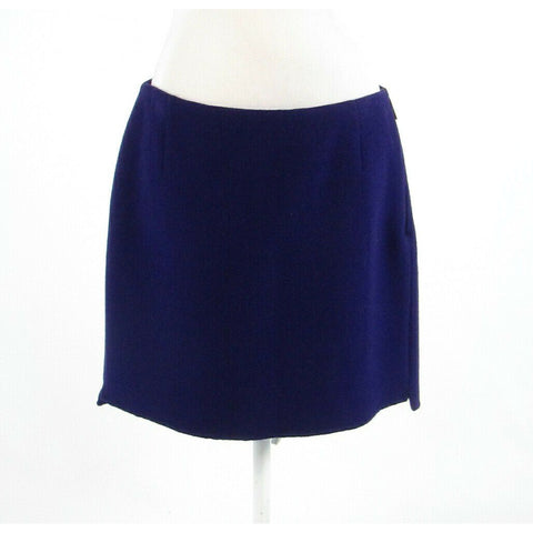 Dark purple wool blend ELIE TAHARI A-line skirt 12-Newish