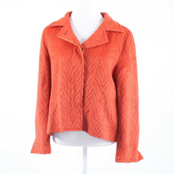 Dark orange textured FUENTECAPALA long sleeve jacket 18 ES48-Newish