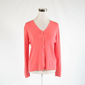 Coral orange JOSEPH A. long sleeve cardigan sweater XL-Newish