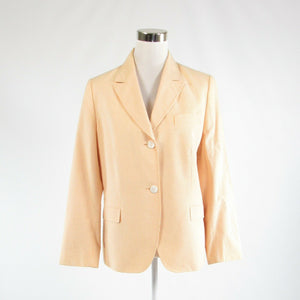 Light orange white seersucker 100% cotton FACONNABLE blazer jacket 12
