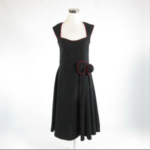 Black red LINDY BOP stretch sleeveless A-line dress L NWT