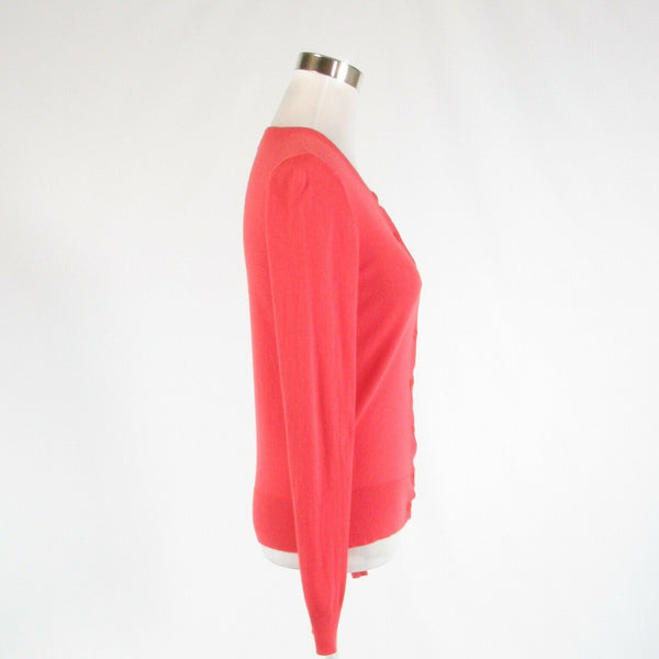 Salmon pink cotton blend ANN TAYLOR long sleeve cardigan sweater S-Newish