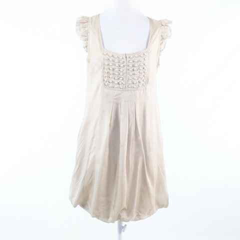 Light beige 100% silk MINT VELVET sleeveless bubble dress 12