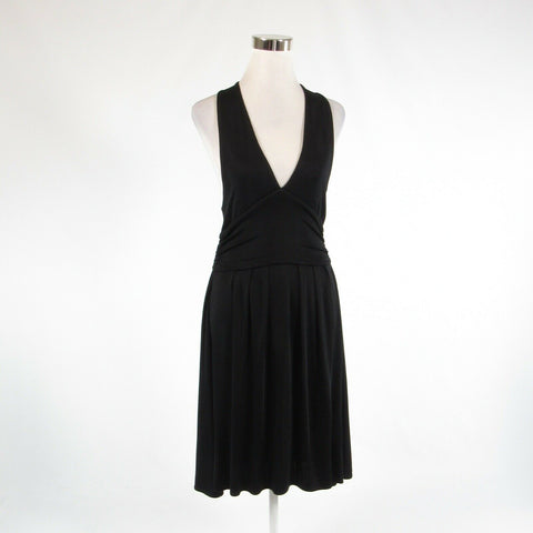 Black DIANE VON FURSTENBERG stretch sleeveless empire waist dress 12